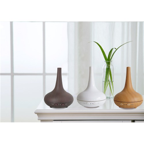 Milano Decor Ultrasonic Aromatherapy Light Wood Diffuser & Humidifier with Oils