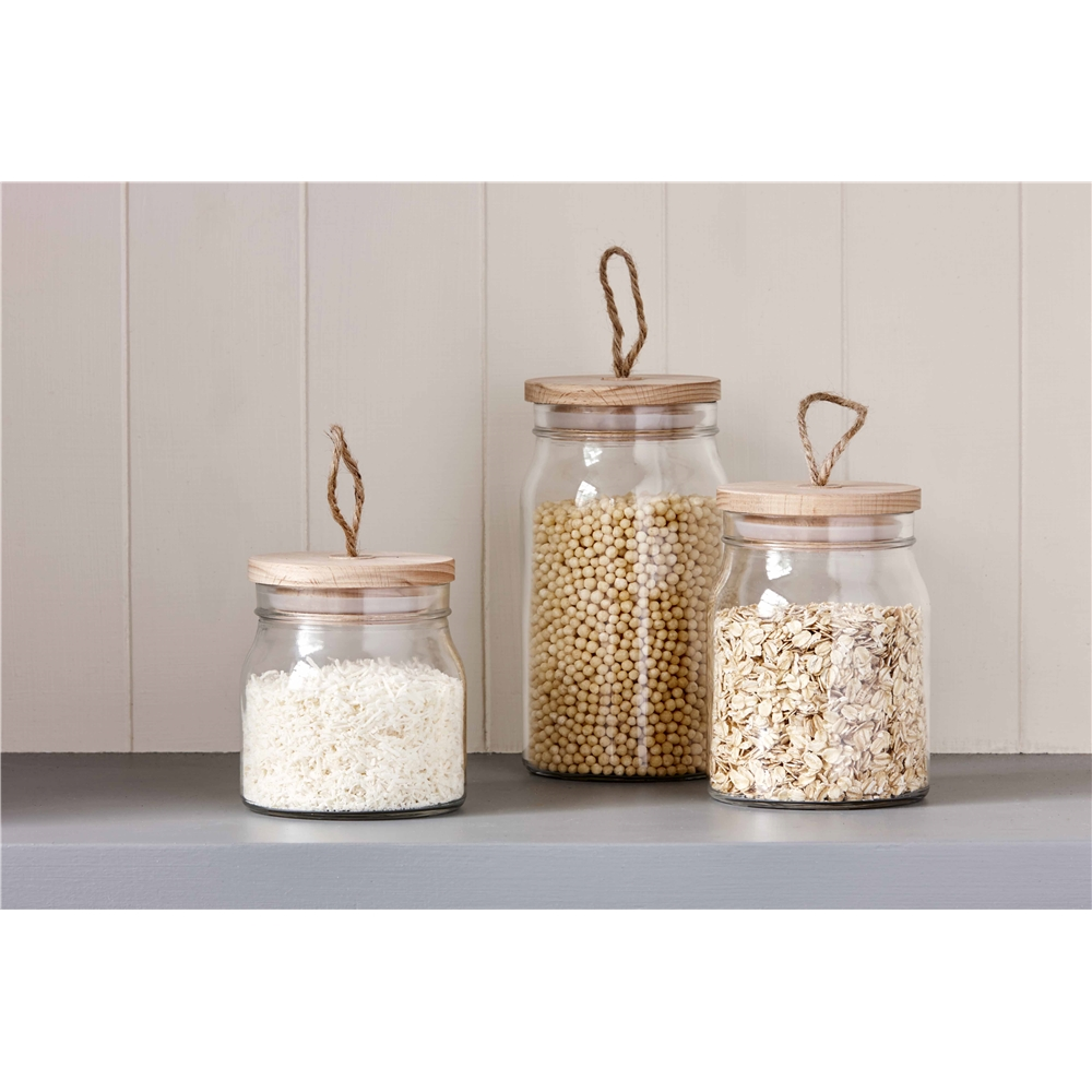 Pantry 1L Square Glass Canister With Lid