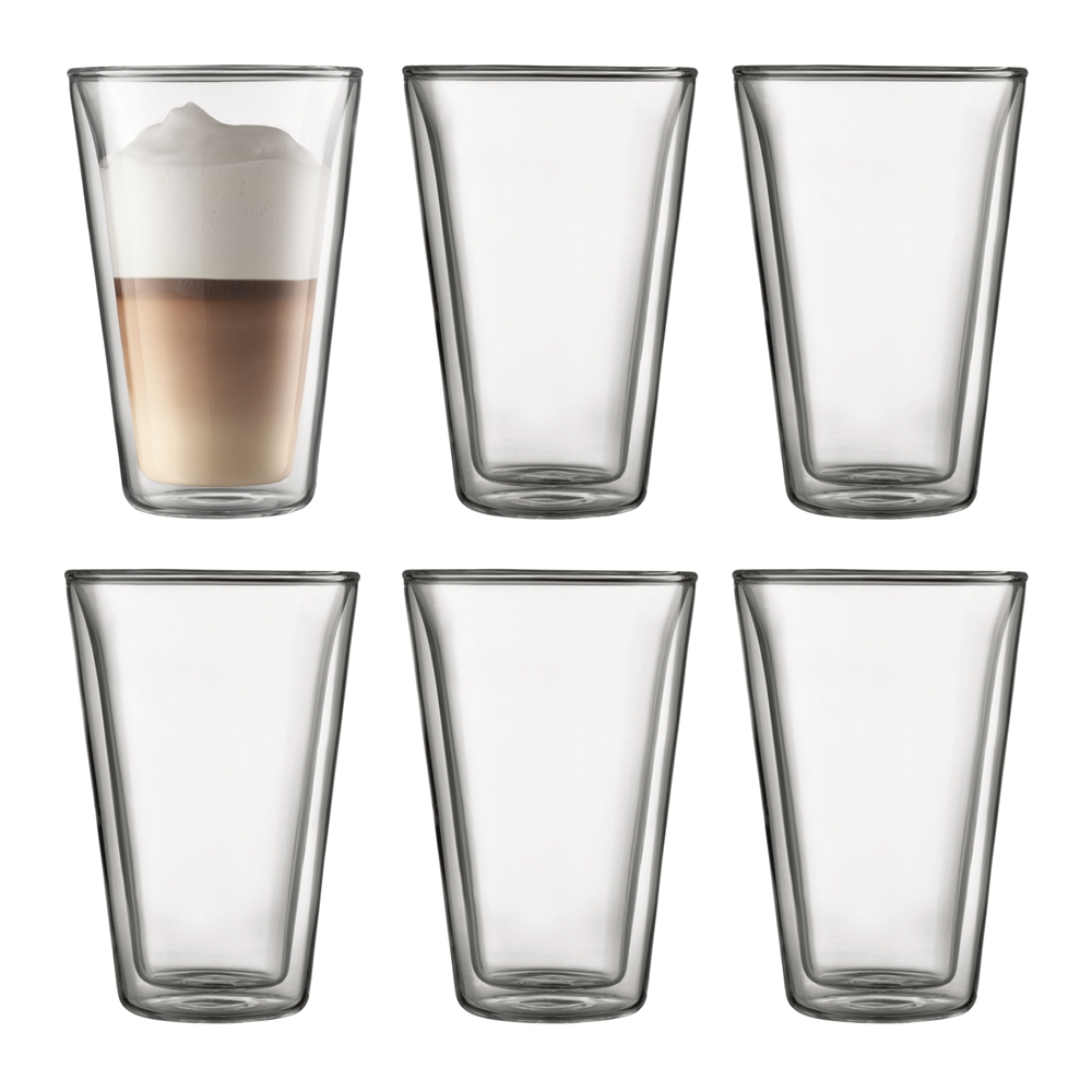 Bodum Canteen Double Wall Glasses 400ml 6 Piece Set