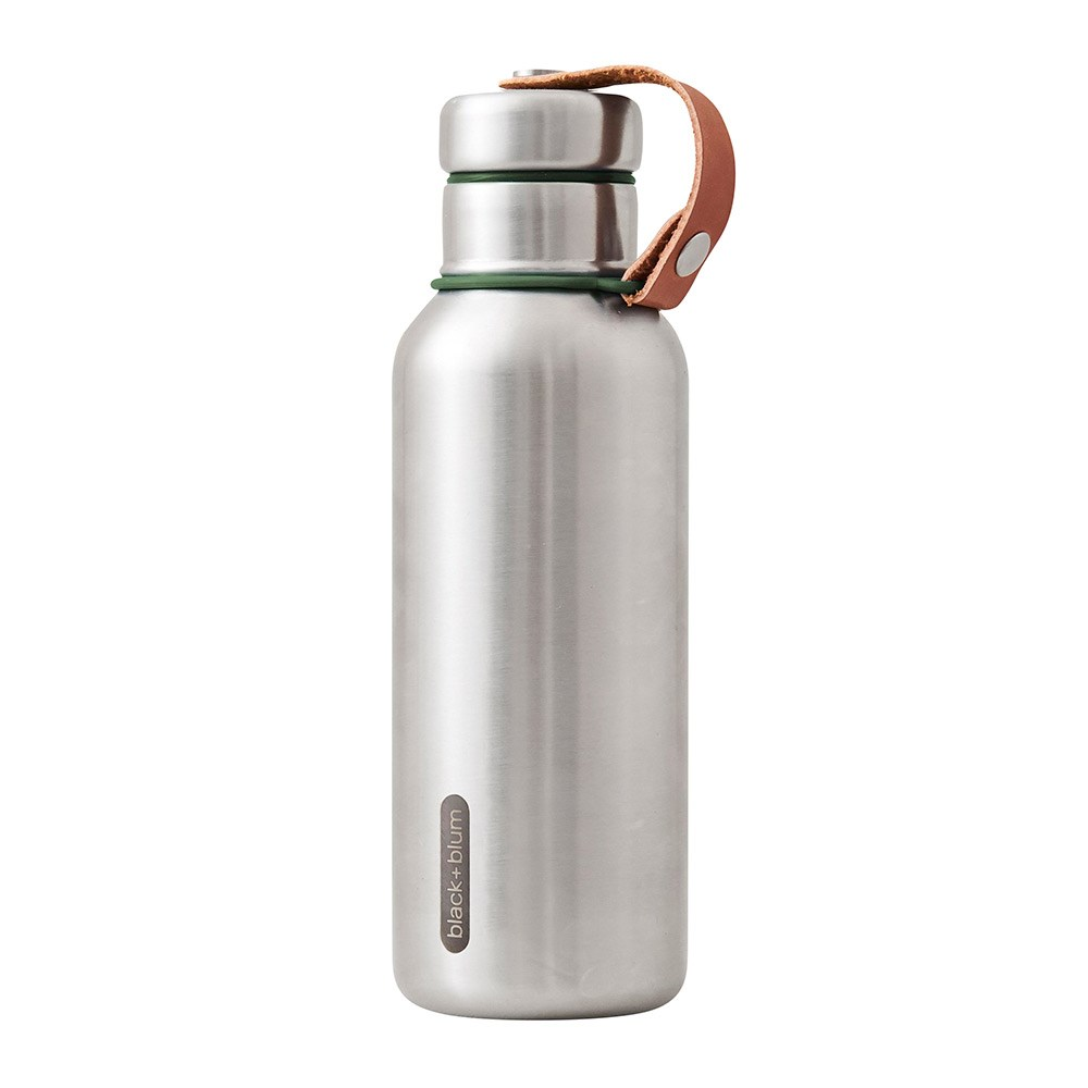 Black & Blum Stainless Steel Insulated Water Bottle 500ml Olive Green