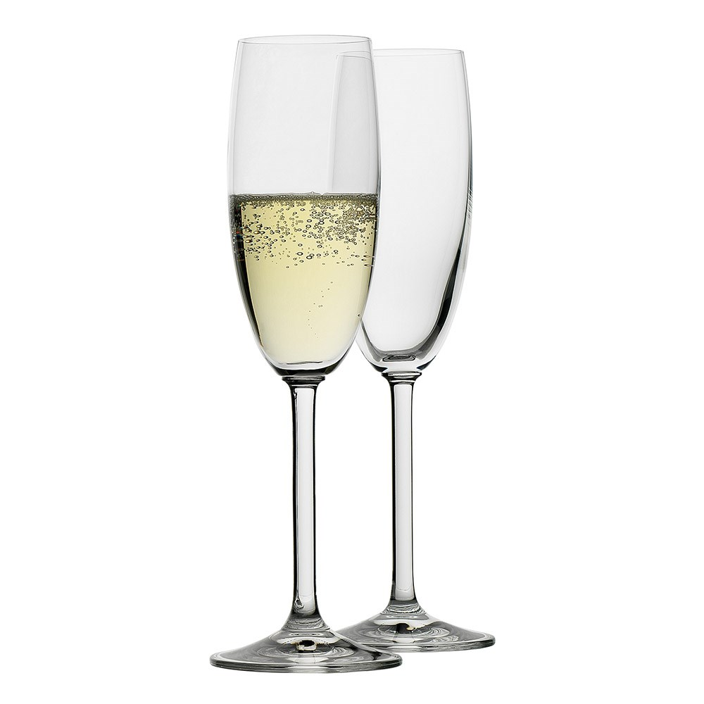 Ecology Crystal Glass 6-Piece Champagne Flutes Set 175ml Clear