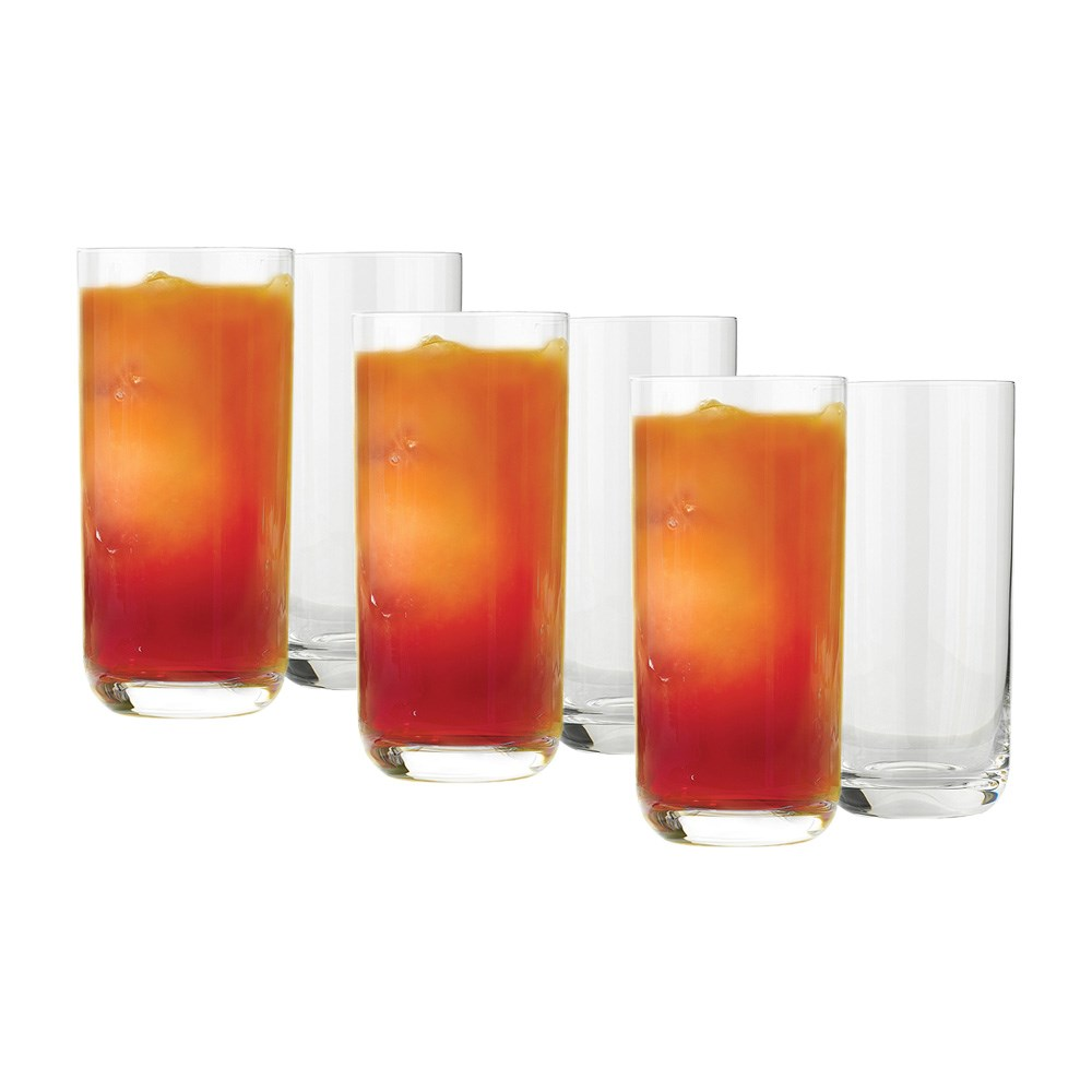 Ecology Crystal Glass 6-Piece Hi Ball Glass Set 430ml Clear