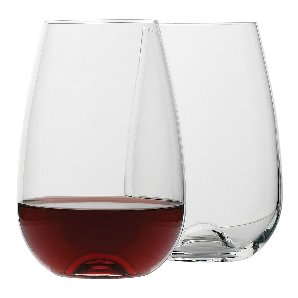 Ecology Crystal Glass 4 Piece Stemless Red Wine Glass Set 660ml