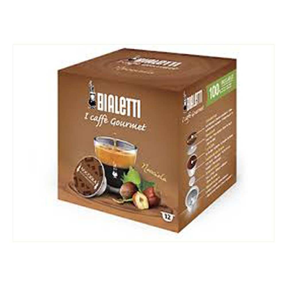 Bialetti Nocciola Hazelnut Infused Coffee Capsules Pack of 16