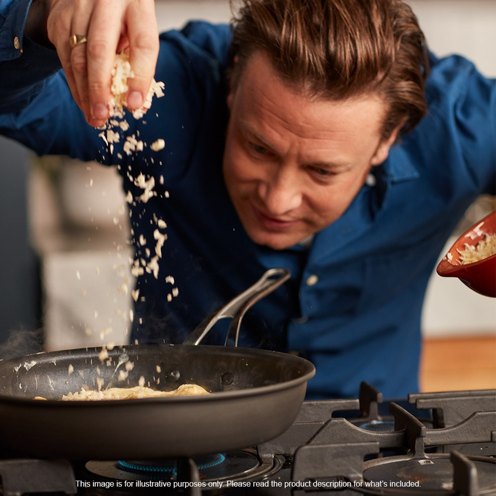 Jamie Oliver by Tefal Premium Hard Anodised 3 Piece Cookware Set