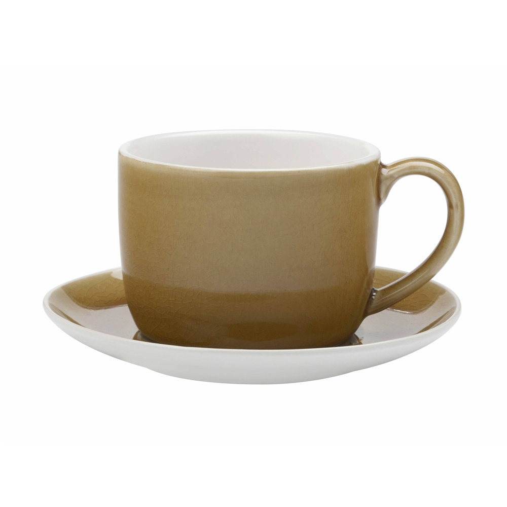 Maxwell & Williams Artisan 280ml Cup & Saucer Turmeric