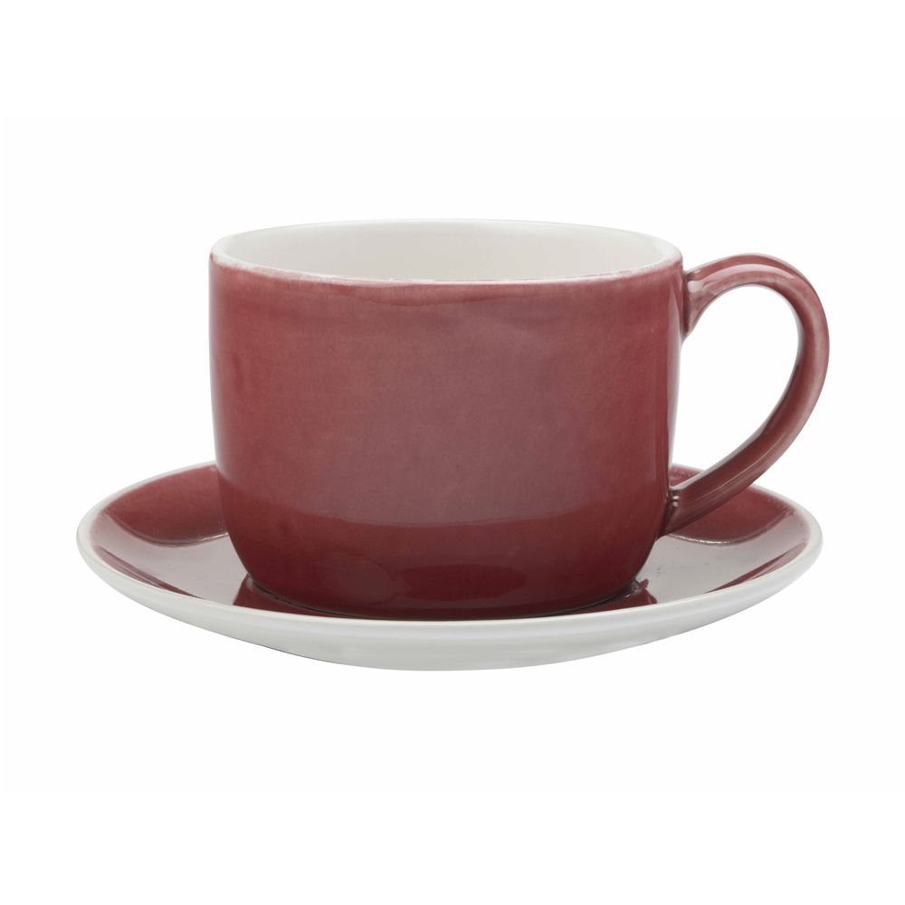 Maxwell & Williams Artisan 280ml Cup & Saucer Pomegranate