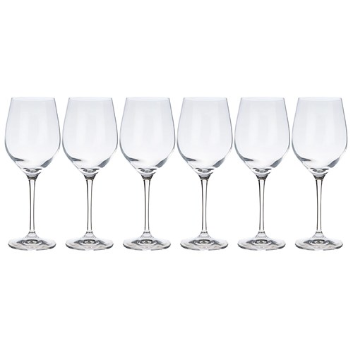 Krosno Vinoteca Set of 6 x 370ml Sauvignon Blanc Wine Glasses