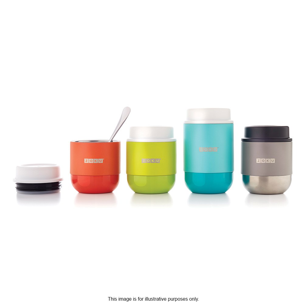 Zoku Neat Stack Stainless Steel Vacuum Insulated Food Jar 295ml Silver