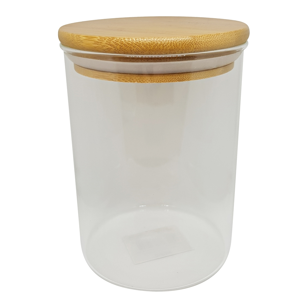 Scullery Bamboo Glass 750ml  Canister with Bamboo Lid