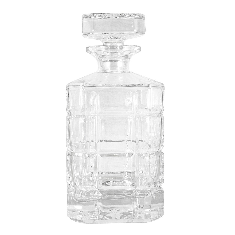 Cellar Premium Luxe Crystal Glass 3-Piece Whisky Decanter Set 900ml/300ml