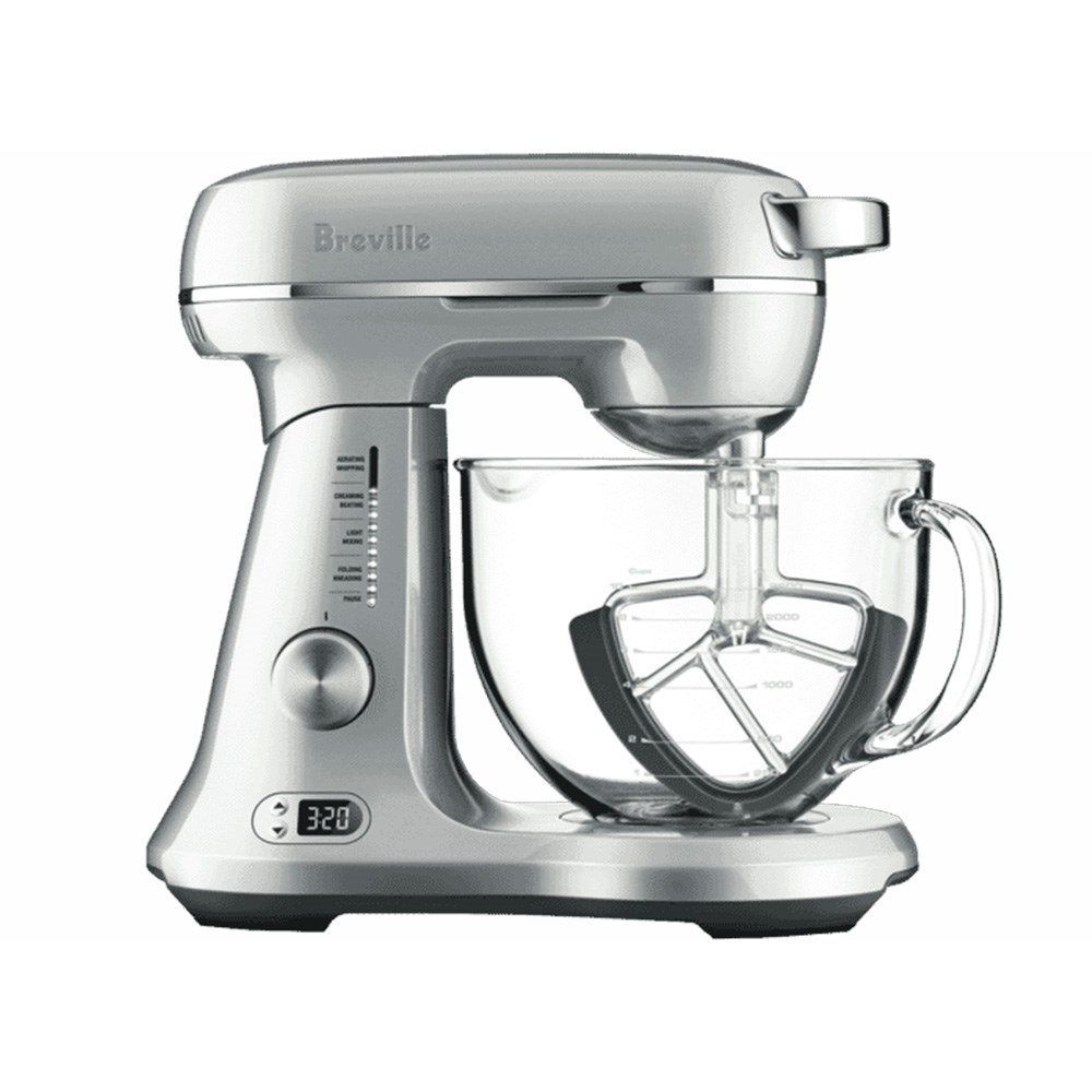 Breville The Bakery Boss Single Bowl Stand Mixer Stainless Steel