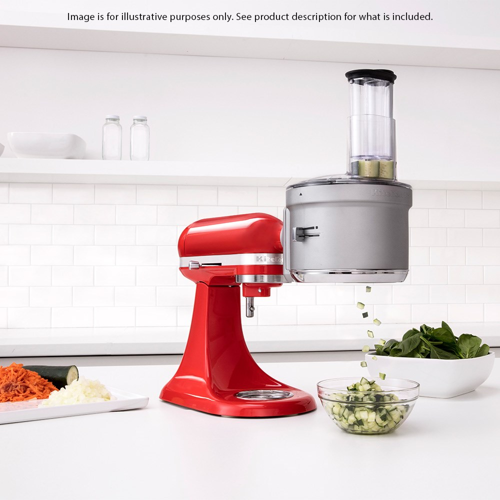 KitchenAid Food Processor Attachment with Commercial Style Dicing Kit for Stand Mixers