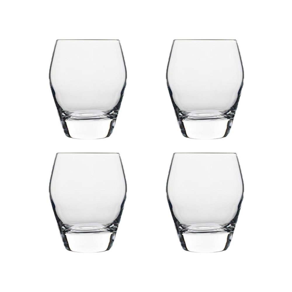 Luigi Bormioli Prestige 440ml Double Old Fashion Glass Set of 4