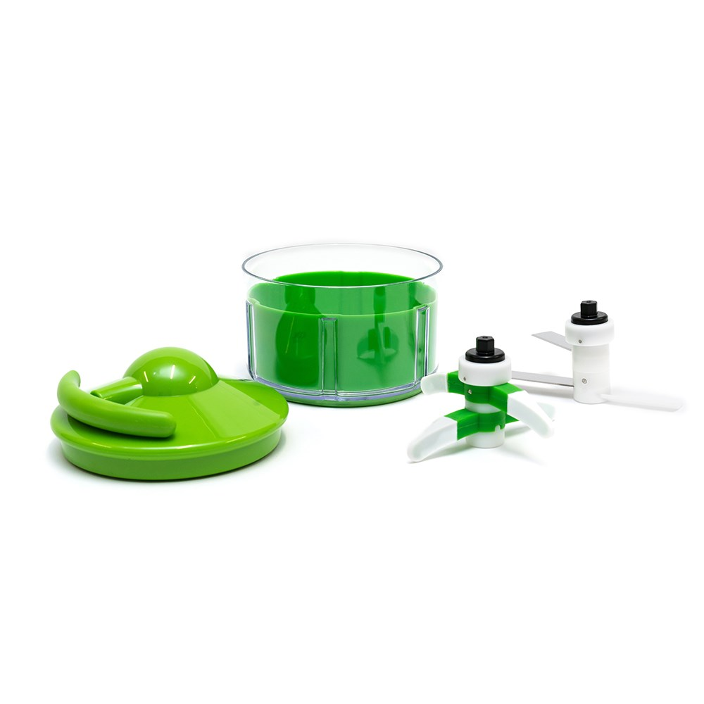 IconChef Stainless Steel Peel and Dice Garlic Device Green