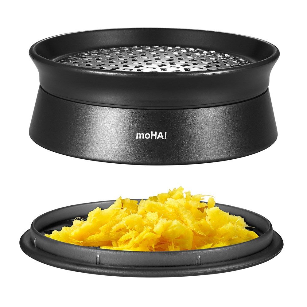 Moha Stainless Steel Ginger Grater 9.5 x 3.5cm Black