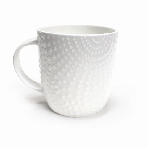 Alex Liddy Bianco Dots Textured Mug