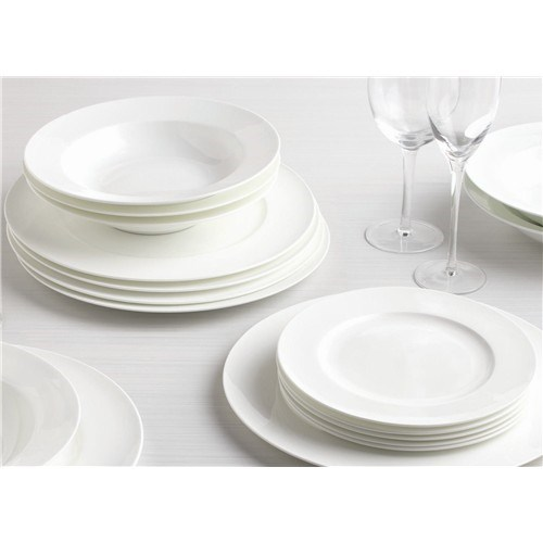 Alex Liddy Aquis 12 Piece Rim Dinner Set