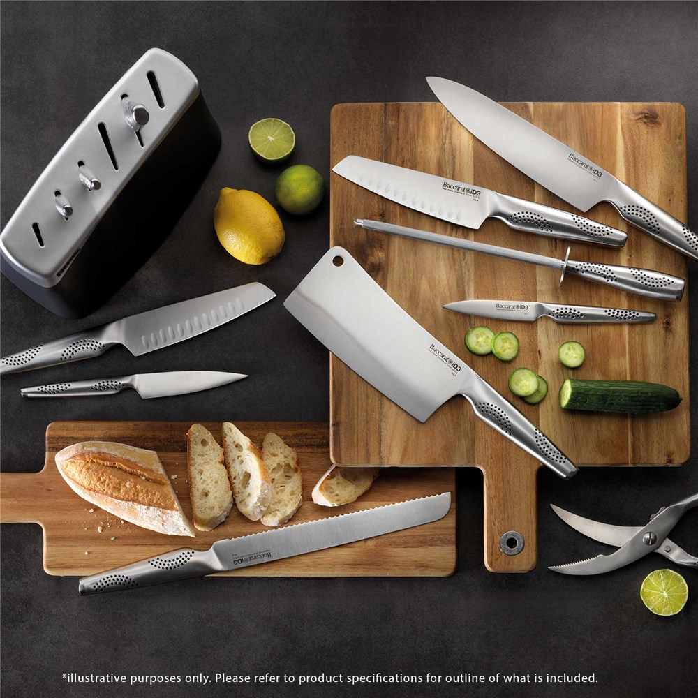 Baccarat iD3 Arashi 7 Piece Knife Block Black