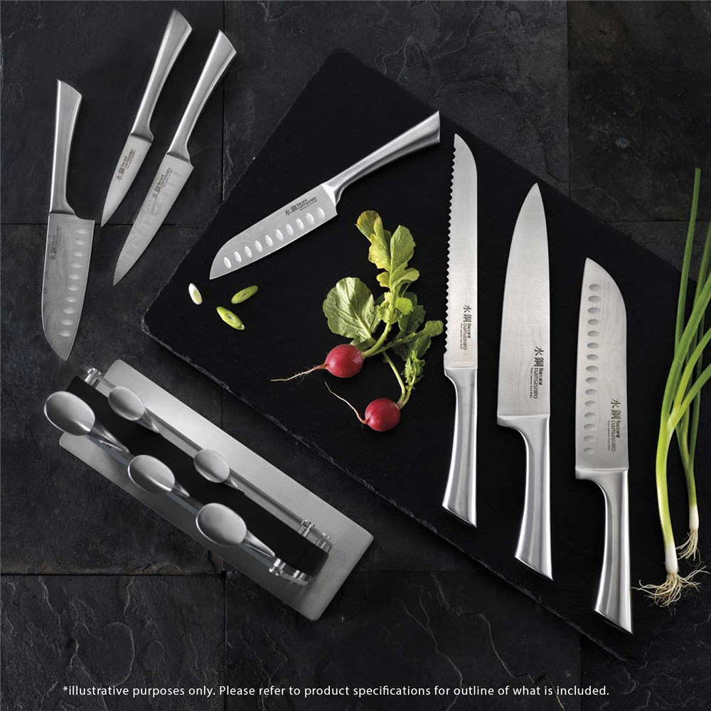 Baccarat Damashiro Kin 7 piece Knife Block