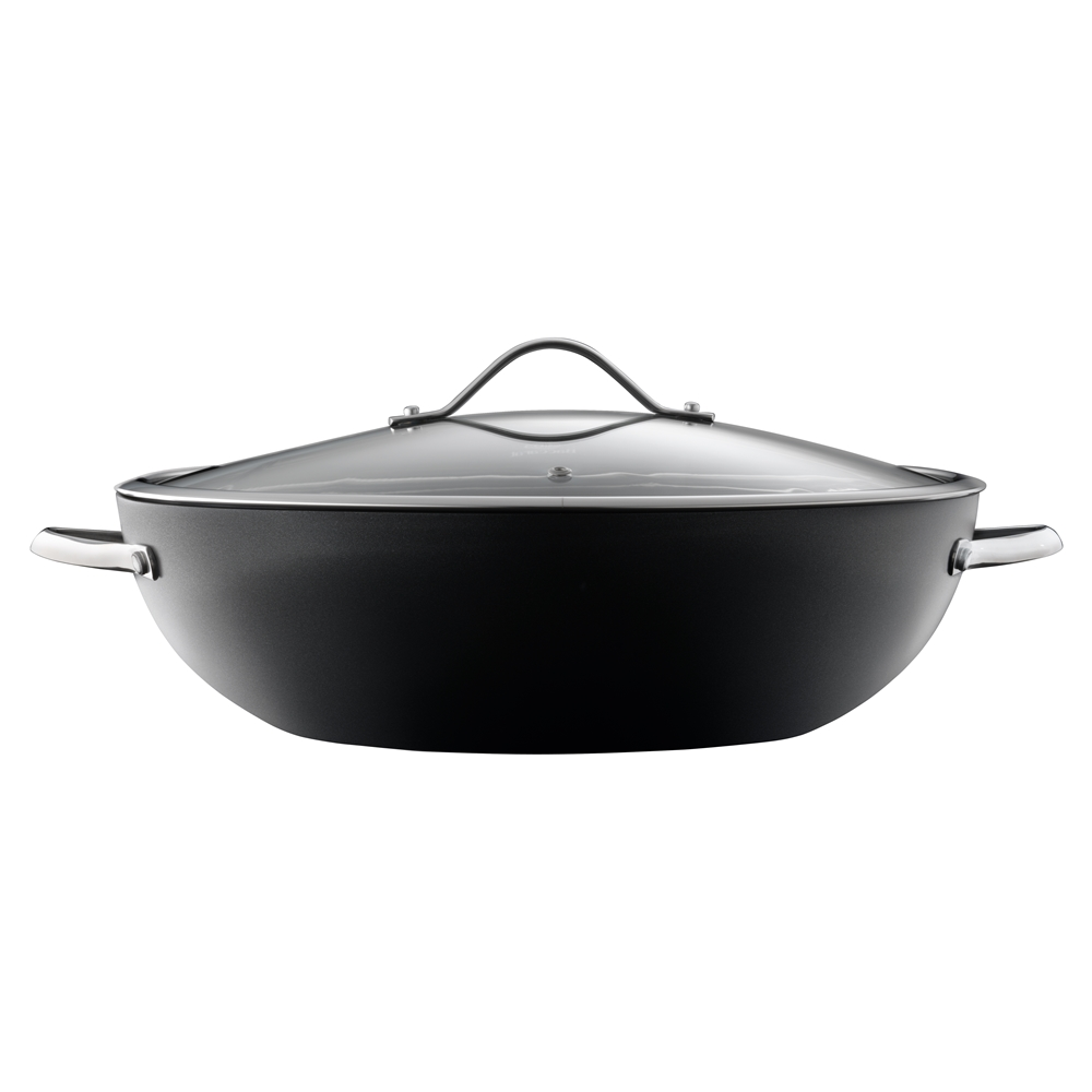 Baccarat iD3 Hard Anodised 36cm Wok with Lid