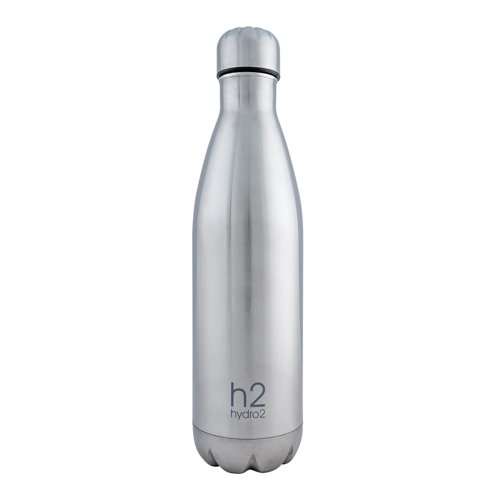 Hydro2 Quench Double Wall Stainless Steel Drink Bottle 750ml Silver