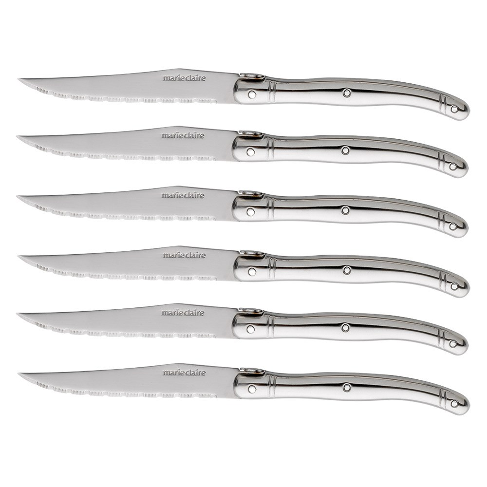 Marie Claire Domaine Stainless Steel 7-Piece Steak Knife Block