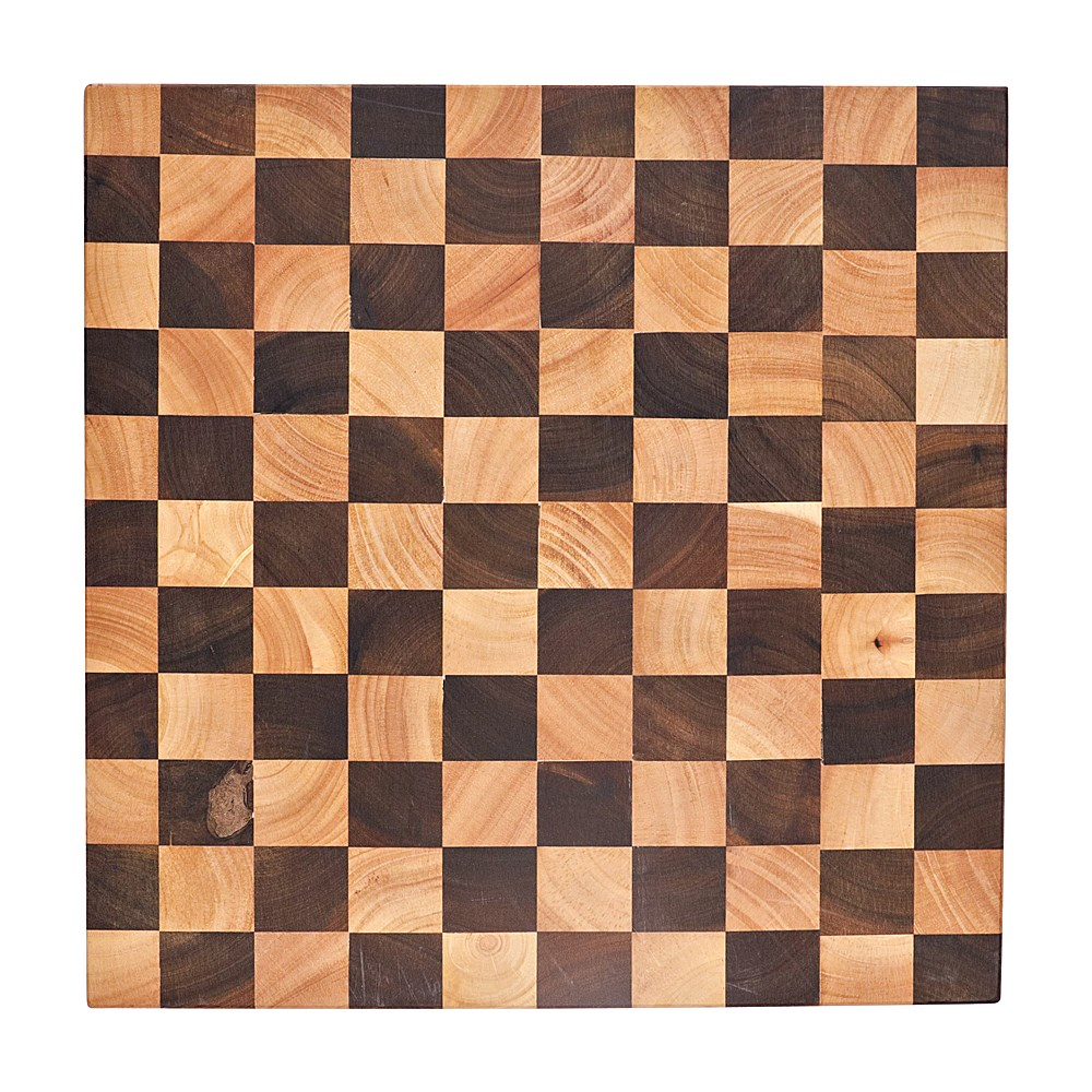 Baccarat Butchers Corner Endgrain Checker Chopping Board 40 x 40cm