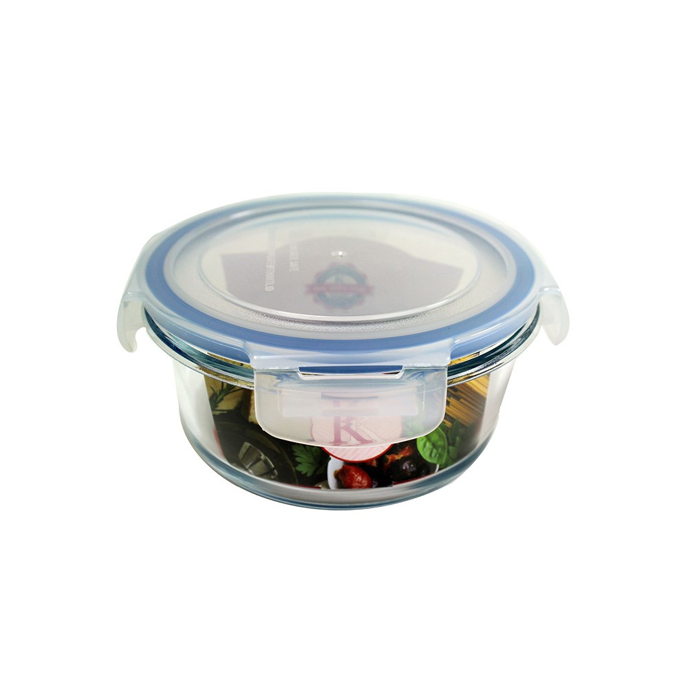 Kates Kitchen Round Glass Food Container 580ml