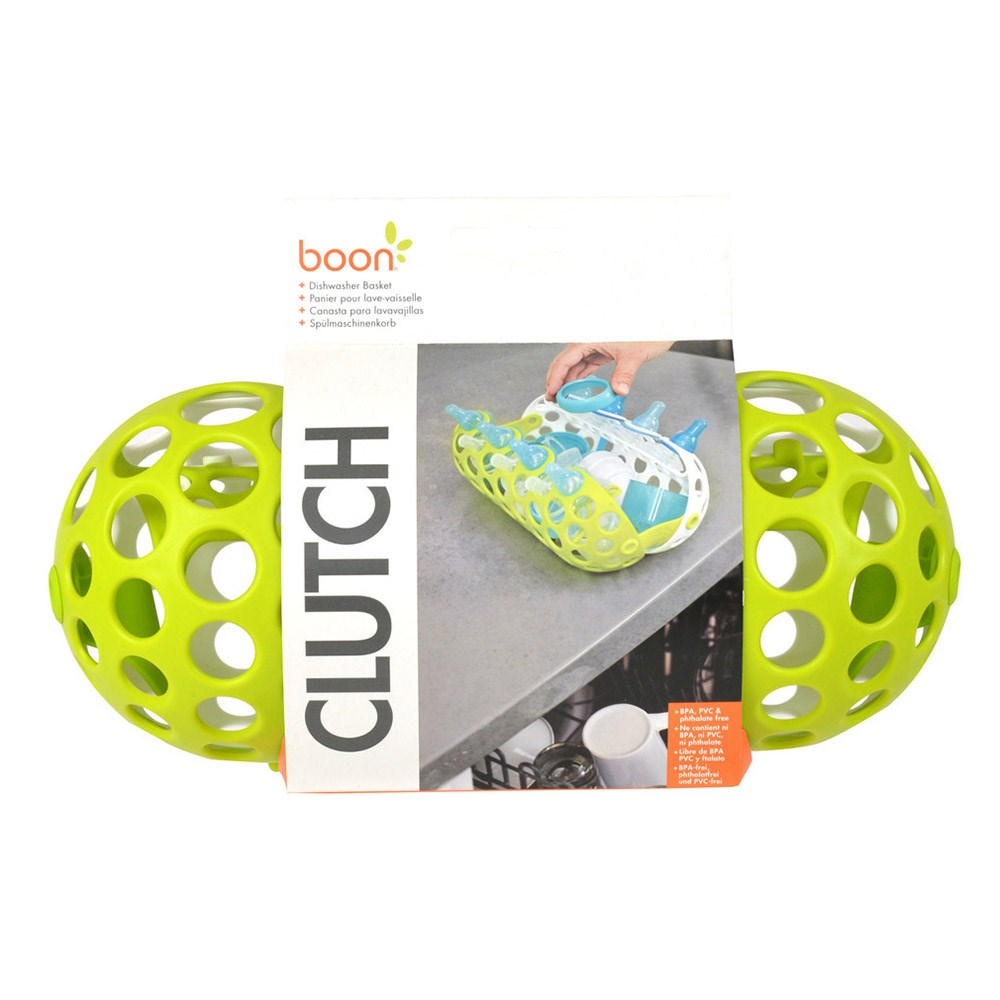 Boon Clutch Plastic Dishwasher Basket for Baby Bottle & Sippy Cup Parts 25 x 11cm Green & White