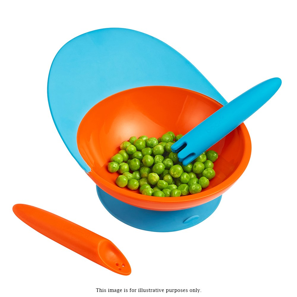 Boon Silicone & Plastic Kids Catch Plate 21 x 17 x 5cm Blue & Green