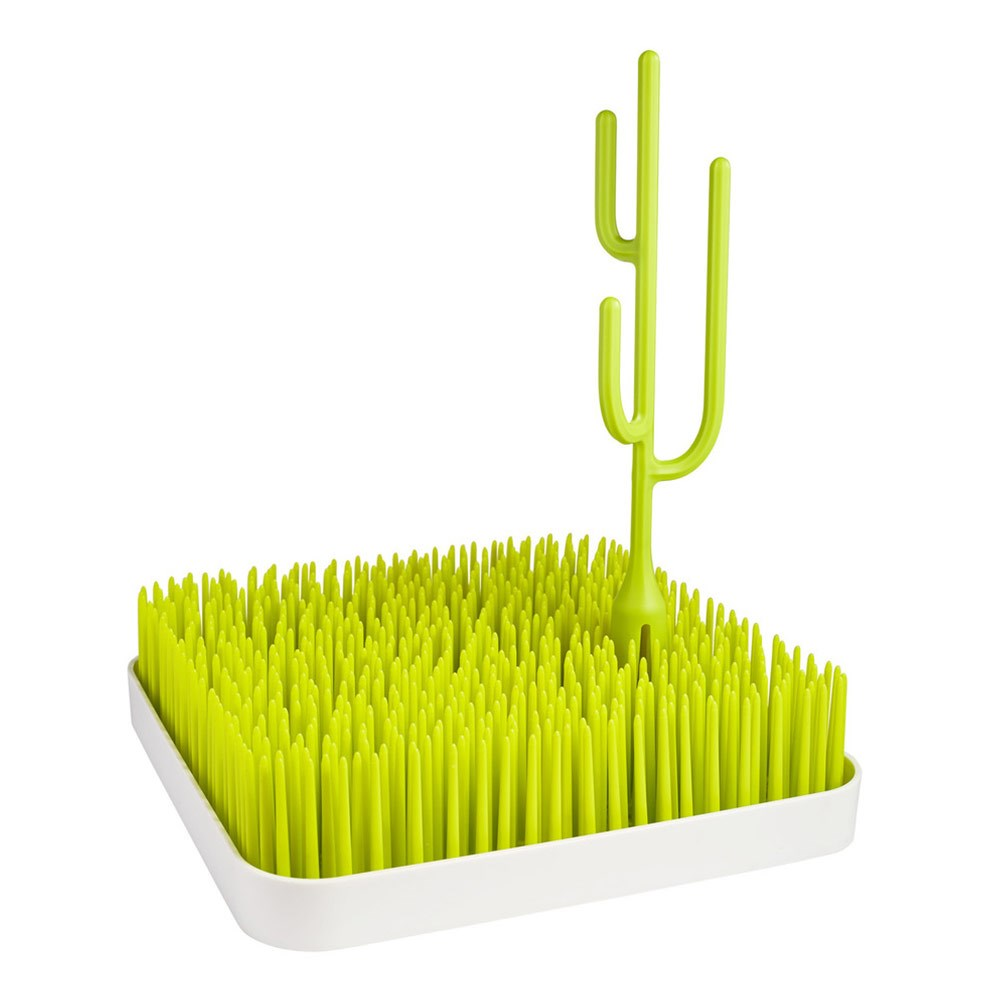 Boon Poke Plastic Cactus Grass Drying Accessory 7 x 7 x 25cm Green
