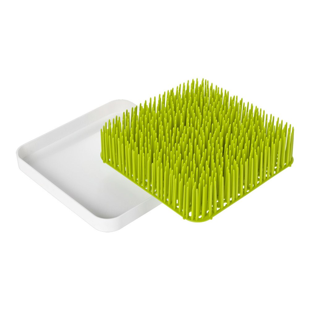Boon Grass Plastic Countertop Drying Rack 24 x 24 x 6.5cm Green & White