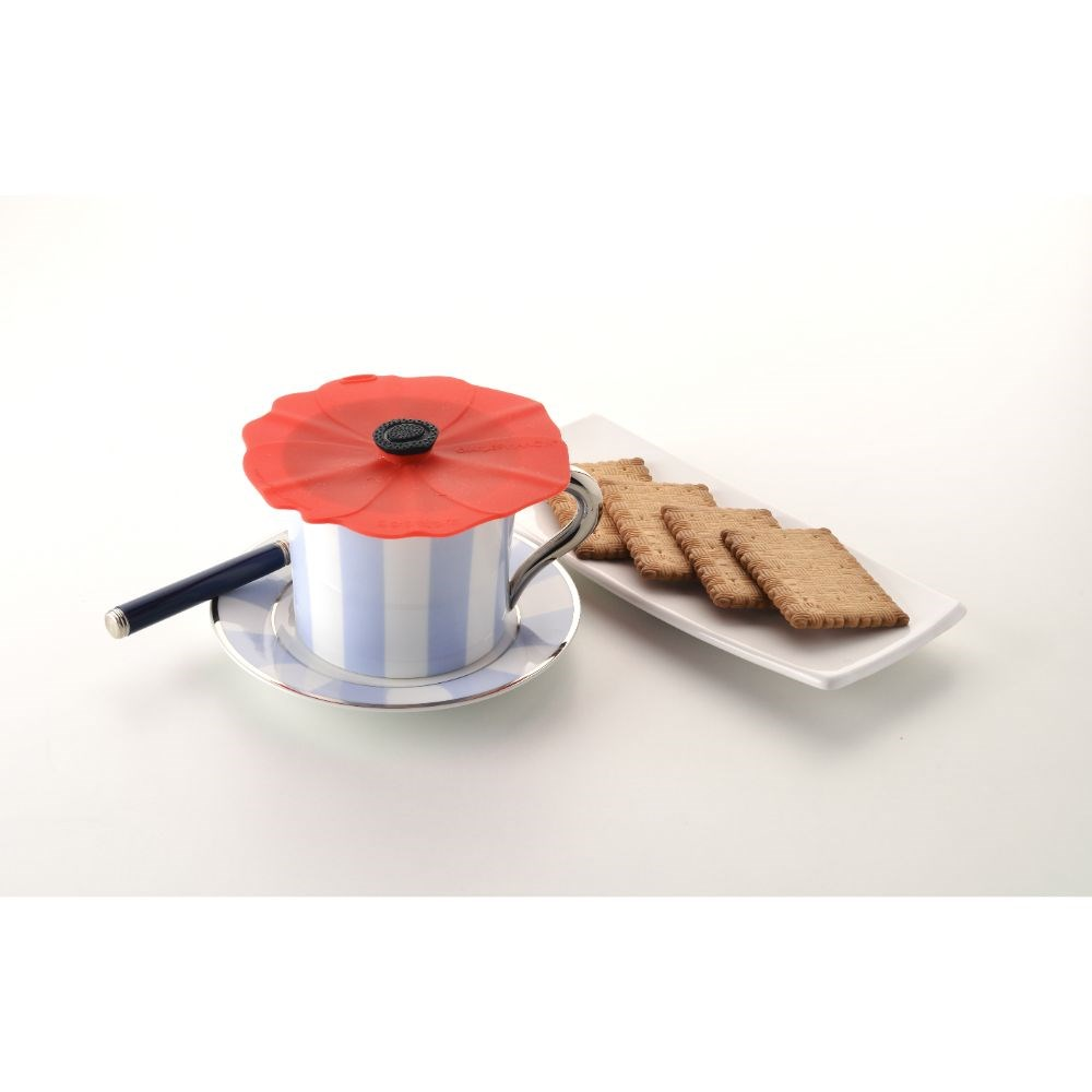 Charles Viancin Poppy Drink & Tin Can Covers Set of 2 10cm