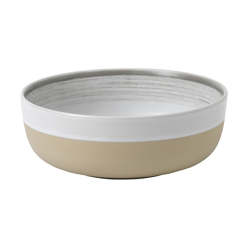 Royal Doulton Ellen Degeneres Bowl 16.5cm White Brush Glaze