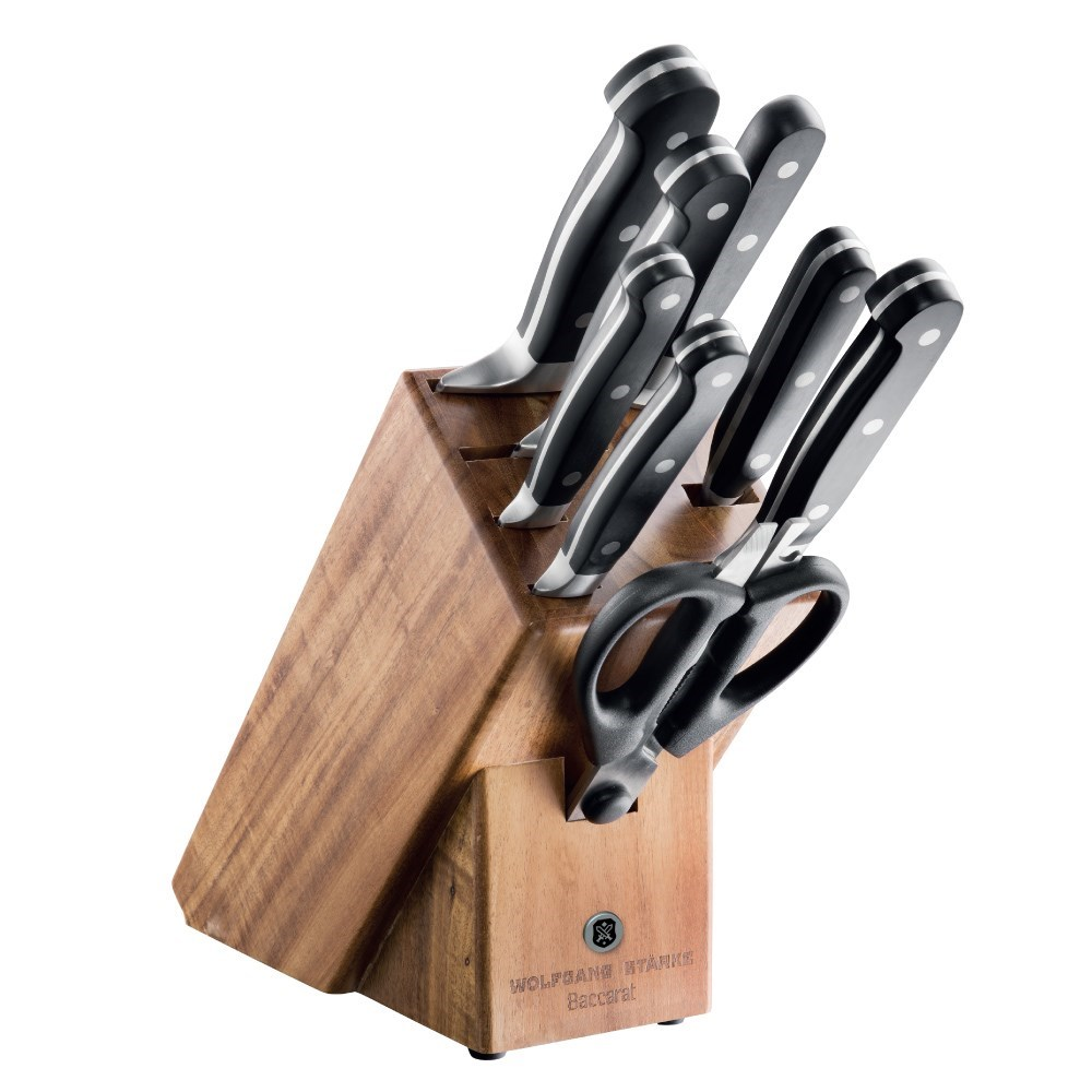 Baccarat Wolfgang Starke 9 Piece Knife Block Knife