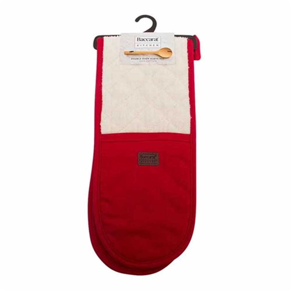 Baccarat kitchen double oven glove red oven mitts trivets robins kitchen - Kitchenaid oven gloves ...
