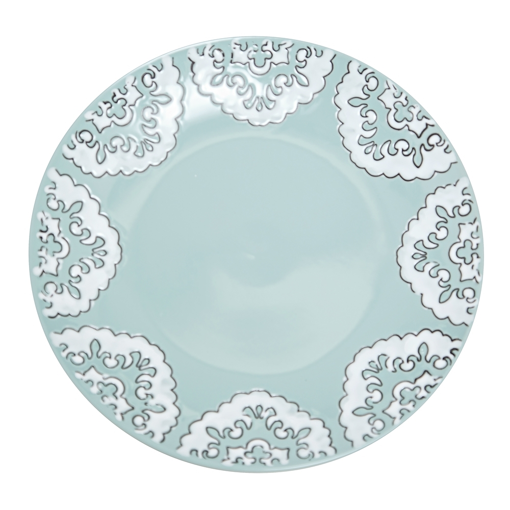 Alex Liddy Lace Plate 27cm Mint | Plates - Robins Kitchen