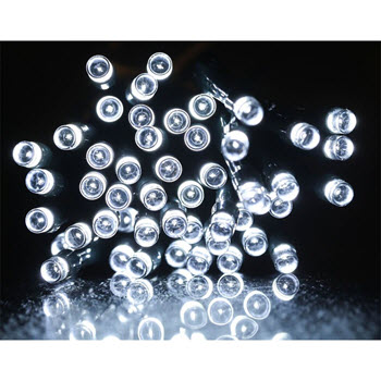 Solar LED Fairy Lights 200 White 21m