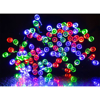 Solar LED Fairy Lights 200 Multicolour 21m