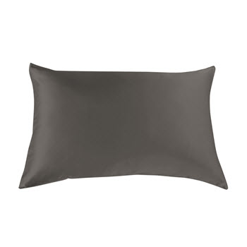 Royal Comfort Mulberry Silk Pillow Case Twin Pack Charcoal