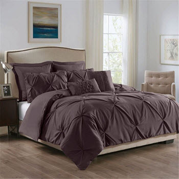 Royal Comfort Double 7 Piece Microfiber Bedding Set Charcoal