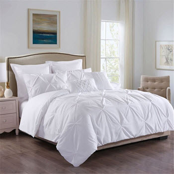 Royal Comfort Double 7 Piece Microfiber Bedding Set White