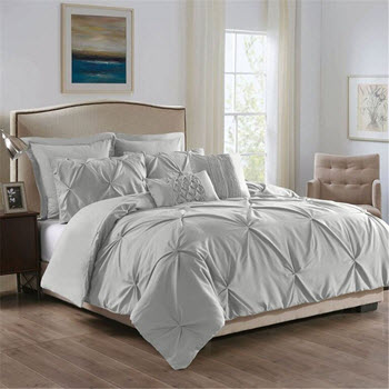 Royal Comfort Double 7 Piece Microfiber Bedding Set Grey