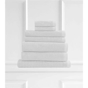 Style & Co Resort Egyptian Cotton 600 GSM Towel Set of 7 White Chocolate