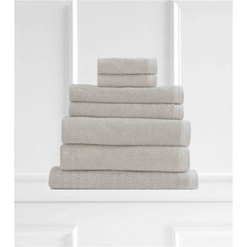 Style & Co Resort Egyptian Cotton 600 GSM Towel Set of 7 Vanilla
