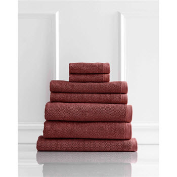 Style & Co Resort Egyptian Cotton 600 GSM Towel Set of 7 Marsala