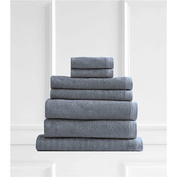 Style & Co Resort Egyptian Cotton 600 GSM Towel Set of 7 Blueberry