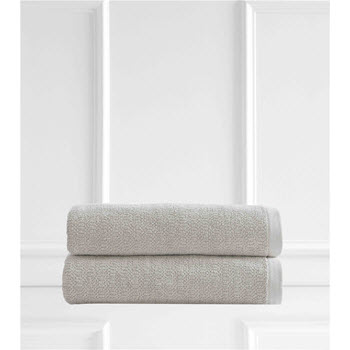 Style & Co Resort Egyptian Cotton 600 GSM 2 Pack Bath Sheets Vanilla
