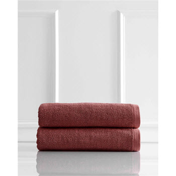 Style & Co Resort Egyptian Cotton 600 GSM 2 Pack Bath Sheets Marsala